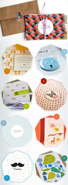 Faire-part à imprimer / free printable Card(birth announcement). Like the retro touch printable card (above)!