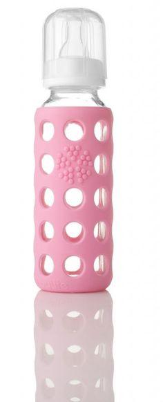 Lasinen tuttipullo 250ml, vaaleanpunainen - Kuopus