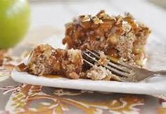 Apple-Pecan Cake with Caramel Sauce