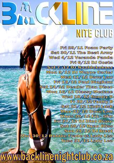 Backline Night Club | night club margate, DECEMBER 2013 party lineup! Foam Party, Party Places, Party Poster, December 2013, Lineup, Night Club, Dj, Posters, Events