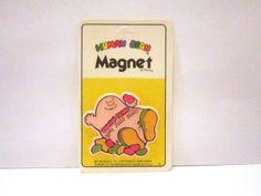 Vintage 80's Human Bean Jelly Bean Magnet by SHOPHULLABALOO
