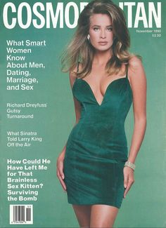 FREDERIQUE VAN DER WAL | COSMOPOLITAN NOVEMBER, 1990 COVER  PHOTOGRAPHED BY SCAVULLO