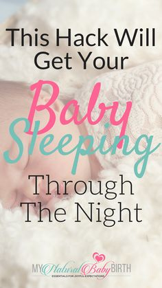 This hack will get your baby sleeping through the night!  No where on the internet did I find a solution to my newborn baby' sleep trouble until I was given this single bit of advice.   newborn baby, baby sleep, post partum care, birth recovery, child birth, baby troubles new mom.