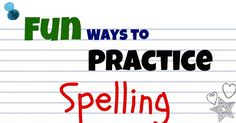 Fun Ways to Practice Spelling with Your Children on http://blog.aboutone.com