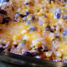 Southwest Rice and Beans ~~~ My family eats rice and beans at least once a week. They are cheap, filling, and good for you! This simple rice and bean dish is the perfect accompaniment to your favorite Mexican meal.