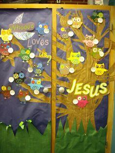 Owl bulletin board idea. I am doing this if I ever become a teacher!