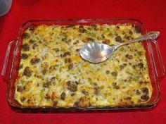 Sausage and Potato Casserole  5pts per serving (1/6 of casserole)  Makes 6 servings
