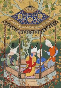 Folio from the Silsilat al-dhahab(Chain of gold) in the Haft awrang(Seven thrones) by Jami (d. 1492)