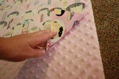 BeingBrook: Easy Minky Receiving blanket tutorial...