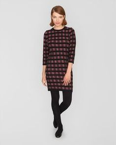 Check Knitted Dress