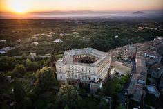 Palazzo dall'alto. Photo official Caprarola