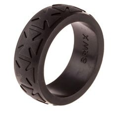 Heavy Duty Silicone Wedding Ring THICKEST & Strongest Wedding Bands w/Unique Designs- for Our Toughest Customers- Easy Exchanges Black Titanium Wedding Bands, Silicone Wedding Band, Alternative Wedding Rings, Silicone Rings, Cross Designs, Black Rings, Eternity Ring, Gold Bands, Rings For Men