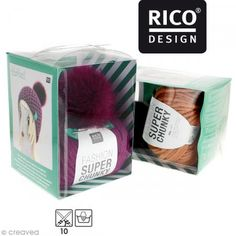 Kit Rico Design - Fashion super chunky - Gorro con pompón a ganchillo - Fotografía n°1