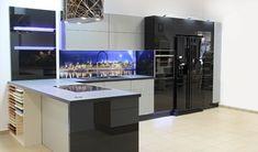 Kuchnie nowoczesne French Door Refrigerator, French Doors, Kitchen Design, Kitchen Appliances, Bar, Furniture, Home Decor, Patio, Inspiration