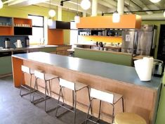 Image result for colourful commercial kitchens