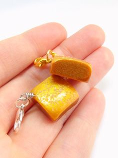 Gold Dusted Salted Caramel Charms and Necklaces by Right2BearCharms on Etsy