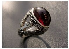 Garnet ring from Persia, circa 1940