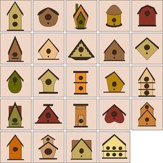 free bird quilting patterns   Bird Houses by Sindy Rodenmayer