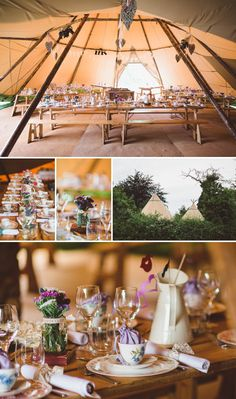 A Beautiful Bohemian Back Garden English Wedding With A Silk Charlie Brear Dress With Lace Cap Sleeves And Flower Crowns From Rhys Parker Ph. Rustic Bohemian Wedding, Tipi Wedding, Marquee Wedding, Magical Wedding, Wedding Seating, Our Wedding, Wedding Venues, Dream Wedding, English Country Weddings