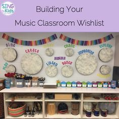 Building Your Music Classroom Wishlist Sing to Kids is part of Music classroom organization - Dreaming about the music room you want From vision to making it a reality, read how I built my fantasy music program in a few years! Preschool Music, Music Activities, Teaching Music, Kindergarten Music, Preschool Activities, Classroom Design, Classroom Decor, Future Classroom, General Music Classroom