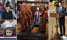 Benedict Cumberbatch leads tributes to Richard III as remains of last English king to die in battle are finally given a royal burial in Leicester Cathedral
