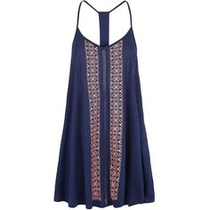 Navy Vertical Aztec Print Front Strappy Dress ($16) found on Polyvore featuring dresses, navy blue mini dress, aztec dress, blue dress, aztec pattern dress and navy mini dress