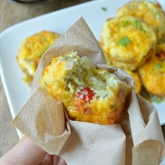 These Make Ahead Breakfast Bakes are perfect for busy mornings! Hash brown cups are filled with baked eggs and whatever omelet fillings you like!
