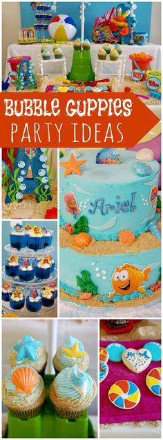 Super Ideas For Birthday Party Ideas Mermaid Bubble Guppies Fourth Birthday, Frozen Birthday Party, Baby Birthday, First Birthday Parties, First Birthdays, Birthday Ideas, Birthday Wishes, Bubble Guppies Birthday, Bubble Guppies Cupcakes
