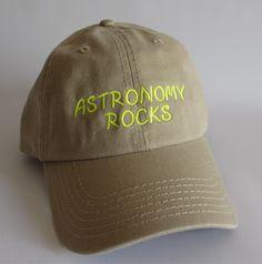 Custom embroidered hats / caps, Astronomy Rocks Cap by CreativeSenseCom on Etsy