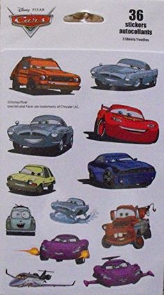Disney Pixar Cars 36 Stickers by Kid Squad -- BEST VALUE BUY on Amazon  #DisneyStickers
