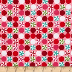 Michael Miller Holiday Santa's Farm Peppermint Dot Pink from @fabricdotcom  From Michael Miller, this cotton print fabric is perfect for quilting, apparel, crafts and and home décor accents. Colors include red, white, hot pink, lime and aqua.