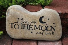 Hand Engraved Rock I Love You to the Moon and by GaleStreetStudio, $29.95