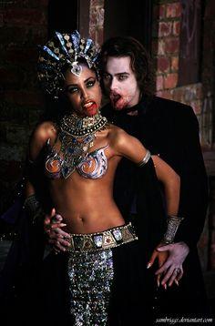 Akasha and Lestat by SamBriggs.deviantart.com on @deviantART