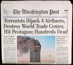 The Washington Post ~ September 12, 2001