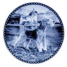Lakeland Terrier: Danish Blue Porcelain Plate ** You can find out more details at the link of the image. (This is an affiliate link and I receive a commission for the sales)