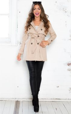 Escape Route Coat in Beige