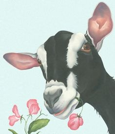 Lizzie Hall. goat painting canvas prints