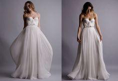 outdoor wedding gown