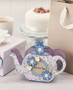 Time for tea! Make this gorgeous teapot gift bag using the free templates from Papercraft Inspirations 156.