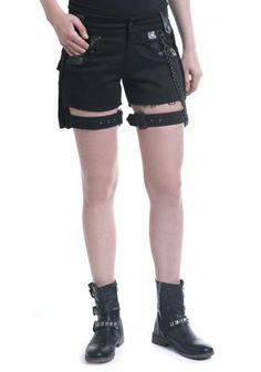 Black Chain Shorts von Gothicana by EMP