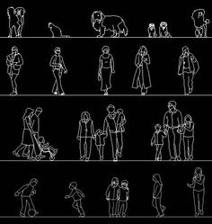 Free AutoCAD People Library DWG Block CAD human figure