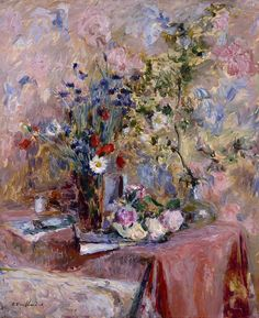 Edouard Vuillard, Art Floral, Art Aquarelle, Impressionist Artists, Paul Gauguin, Oeuvre D'art, Painting Inspiration, Flower Art, Life Flower