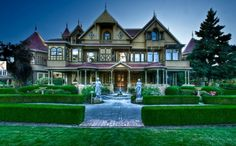 winchester mystery house, supposedly one of the scariest places, and I lived only 4 miles away!