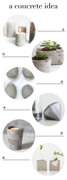 DIY 6 concrete projects ♥ number 5 is my favorite wich one is yours ?