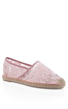 Pop Gardenia Glamourous Espadrille Flat by Valentino Now Available on Moda Operandi