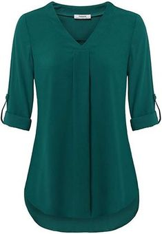 online shopping for Youtalia Womens Cuffed Sleeve Chiffon Printed V Neck Casual Blouse Shirt Tops from top store. See new offer for Youtalia Womens Cuffed Sleeve Chiffon Printed V Neck Casual Blouse Shirt Tops Mode Kimono, Tops Online Shopping, Chiffon Tops, Chiffon Blouses, Shirt Blouses, Polo Shirts, Blouse Designs, Blouses For Women, Long Sleeve Tops