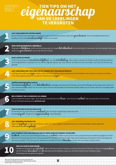 Ten tips to increase the ownership of students in their learning process Visible Learning, Deep Learning, Learning Process, Mobile Learning, Teach Like A Champion, Co Teaching, School Info, Effective Teaching, Learning Theory
