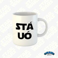 """Caneca Divertida - """"STÁ UÓ"""" STAR WARS Comece o seu dia com um café delicioso, presenteie alguém muito especial ou dê um up na decoração com uma das canecas da Galileo Store. - COLEÇÃO: Divertidas - CAPACIDADE: 325 ml (11oz) - Produto de excelente qualidade - Estampa feita por sublimaçã... Coffee Time, Coffee Mugs, Vader Star Wars, Chelsea Flower Show, Posca, Mug Cup, Tea Cups, Sweet Home, Geek Stuff"""