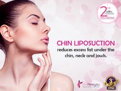 If you are dreaming of getting a chiseled look, stop dreaming and get your face sculpted with the help of #ChinLiposuction It will help you lose the excess fat from your chin, neck and jowls. #TheNewYou #CosmeticTreatment #CosmeticSurgery