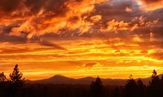 Sunset Over Mt. Bachelor after a storm. (Photo credit: Christian Heeb)